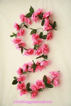 3x+Artificial+Flower+Garlands+in+Pink+Roses+and+Refreshing+Green+Leaf+Detail+%28150cm+long+and+30%2B+Flowers+%2D+5Ft%29
