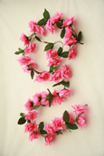 3x Artificial Flower Garlands in Pink Roses and Refreshing Green Leaf Detail (150cm long and 30+ Flowers - 5Ft)