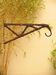 Hanging Basket Bracket Dark Weave